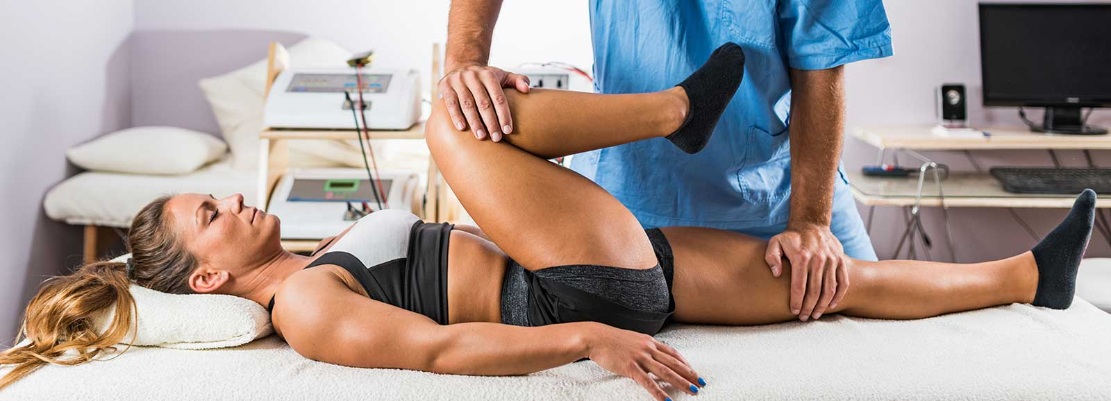 Athlete With Injuries Gets Chiropractor Adjustment- Feels